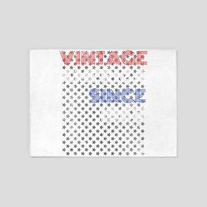50th Birthday Born in 1968 Vintage 5'x7'Area Rug