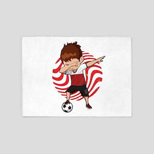 Football Dab Poland Poles Footballe 5'x7'Area Rug