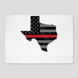 Texas Firefighter Thin Red Line 5'x7'Area Rug