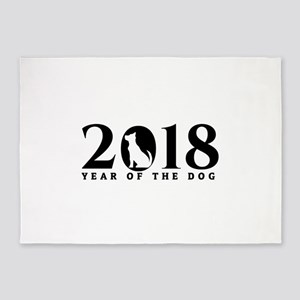 Year Of The Dog Chinese New Year 20 5'x7'Area Rug