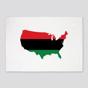 African American _ Red, Black & Green Colors 5'x7'