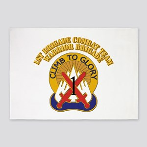 DUI - 1st BCT - Warrior Brigade with Text 5'x7'Are