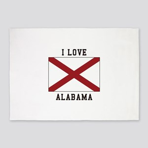 i love Alabama 5'x7'Area Rug
