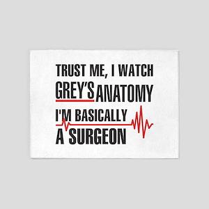 Greys Anatomy Trust me 5'x7'Area Rug
