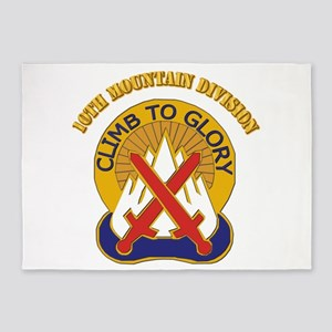 DUI - 10th Mountain Division with Text 5'x7'Area R