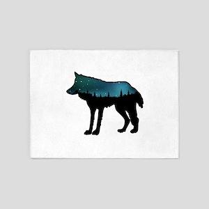 WOLF NIGHTLY 5'x7'Area Rug