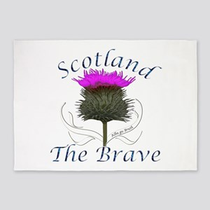 Scotland The Brave Thistle 5'x7'Area Rug