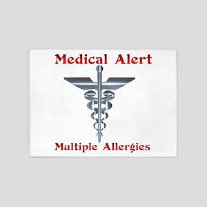 Multiple Allergies Medical Alert As 5'x7'Area Rug