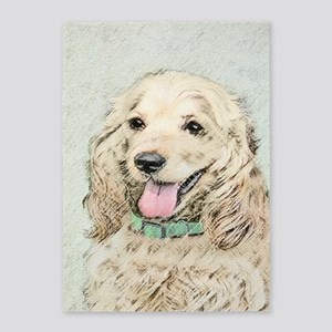 Buff Cocker Spaniel 5'x7'Area Rug