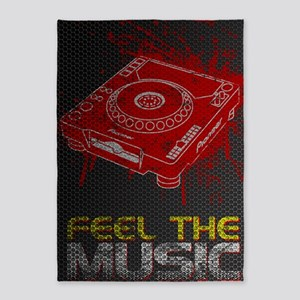 Feel The Music Pioneer CDJ Poster 5'x7'Area Rug