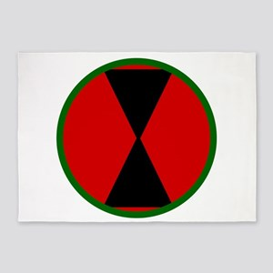 7th Infantry Division 5'x7'area Rug