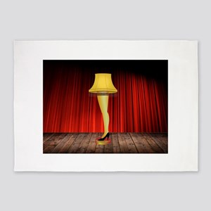 christmas story leg lamp 5'x7'Area Rug