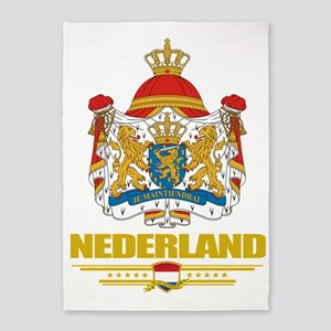 Netherlands COA (Flag 10) 5'x7'Area Rug