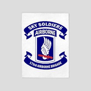 Offical 173rd Brigade Logo 5'x7'Area Rug
