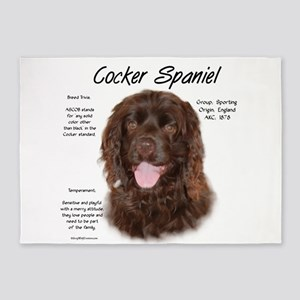 Cocker Spaniel (brown) 5'x7'Area Rug