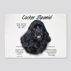 Cocker Spaniel (black) 5'x7'Area Rug