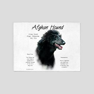 Afghan Hound (black) 5'x7'Area Rug