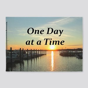 ONE DAY AT A TIME 5'x7'Area Rug