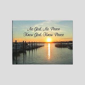 GOD IS PEACE 5'x7'Area Rug
