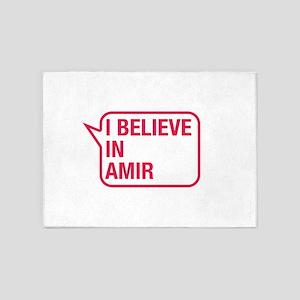I Believe In Amir 5'x7'Area Rug