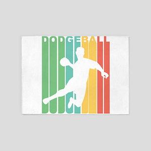 Retro Dodgeball 5'x7'Area Rug
