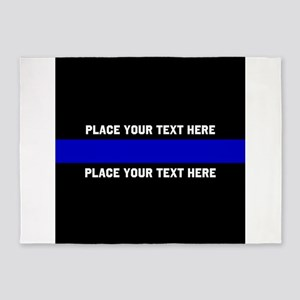 Thin Blue Line Customized 5'x7'Area Rug