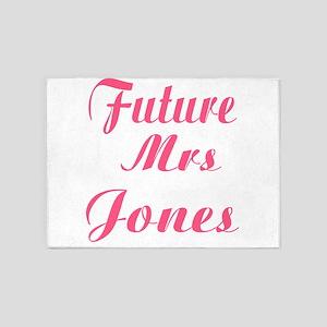 Future Mrs. Jones 5'x7'Area Rug