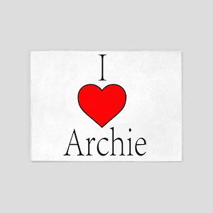 I Heart Archie 5'x7'Area Rug