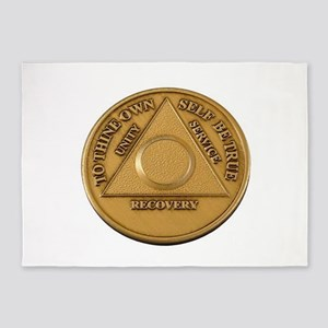 Alcoholics Anonymous Anniversary Chip 5'x7'Area Ru