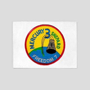 Freedom 7 Alan Shepherd 5'x7'Area Rug