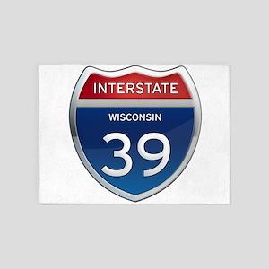 Interstate 39 5'x7'Area Rug
