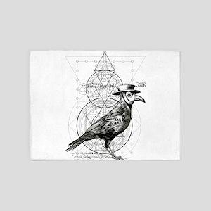 The Plague Raven 5'x7'Area Rug