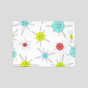 Atomic Era Art 5'x7'Area Rug
