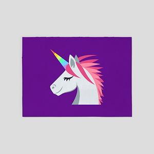 Unicorn Emoji 5'x7'Area Rug