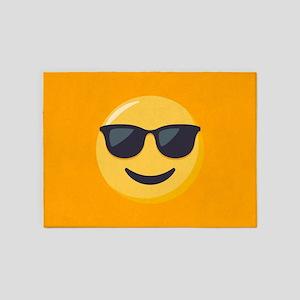 Sunglasses Emoji 5'x7'Area Rug