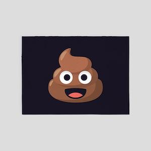 Poop Emoji 5'x7'Area Rug