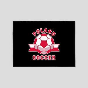 Poland Soccer 5'x7'Area Rug