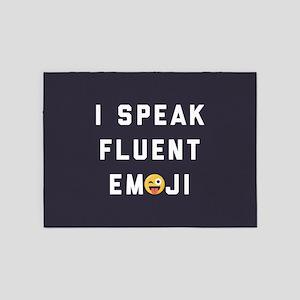 I Speak Fluent Emoji 5'x7'Area Rug