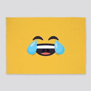Cry Laughing Emoji Face 5'x7'Area Rug