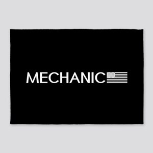 Mechanic: American Flag (White) 5'x7'Area Rug