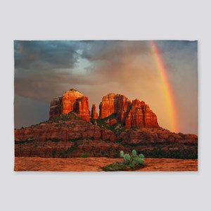 Rainbow In Grand Canyon 5'x7'Area Rug