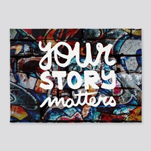 your story matters graffiti hip hop 5'x7'Area Rug