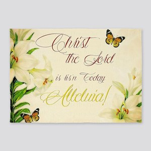 Christ the Lord is ris'n today 5'x7'Area Rug