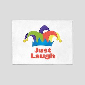 Just Laugh 5'x7'Area Rug