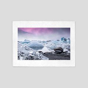 Glaciers of Iceland 5'x7'Area Rug