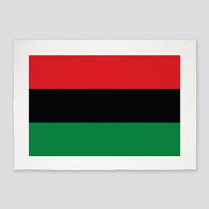 The Red, Black and Green Flag 5'x7'Area Rug