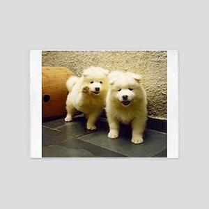 LS samoyed puppy 5'x7'Area Rug