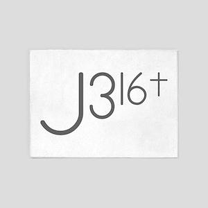 J316Typo 5'x7'Area Rug