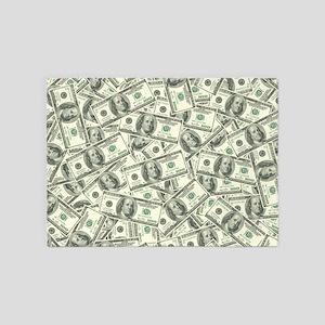 100 Dollar Bill Money Pattern 5'x7'Area Rug