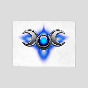 Triple Goddess - blue - transparent 5'x7'Area Rug